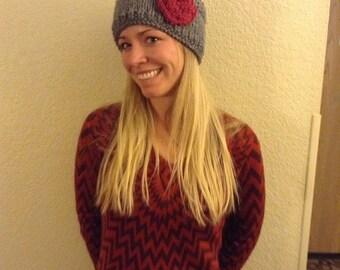 Rose Knitted Headband