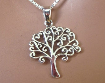 Tree of Life Sterling Silver Pendant Charm Womens Jewelry Gift