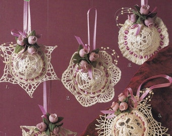 Rosebud Ornaments, Annie's Attic Crochet Pattern Booklet 8B080
