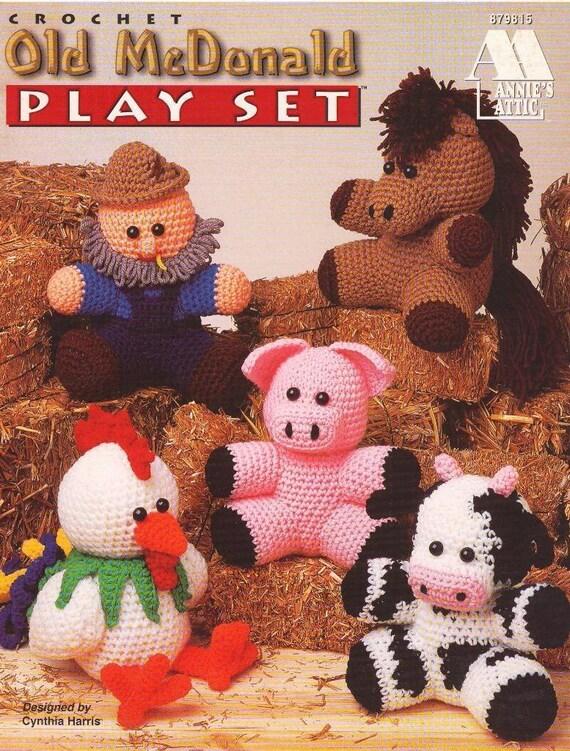 Old Mcdonald Play Set Annie S Attic Crochet By Lucygooseydolls