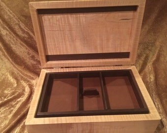 Wood Jewelry Box, Wood Keepsake Box