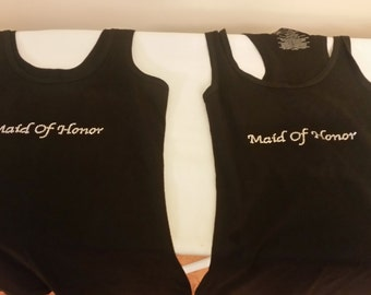 Bridesmaid or Maid of Honor Tanks