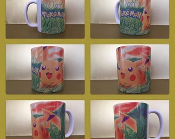 pokemon go ash pikachu squirtle japan nintendo personalised mug cup any name gift