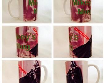personalised mug cup disney darth vader star wars storm trooper light saber gift present