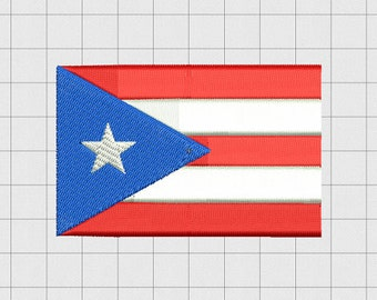 Puerto Rican flag embroidery file