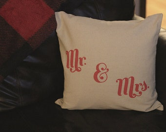 Mr and Mrs - Farmhouse Style  Pillow Cover