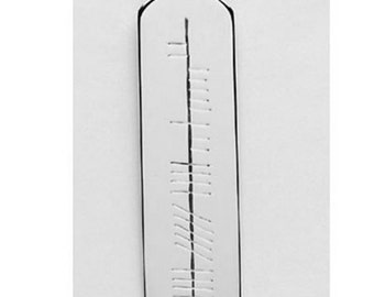 """Ogham Script Personalised Pendant on 18"""" chain OP5-Silver"""