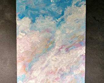 Sky ATC in acrylic