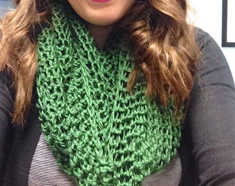 Soft Green Infinity Scarf