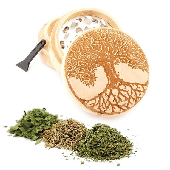 Tree of Life Engraved Premium Natural Wooden Grinder Item # PW050916-113