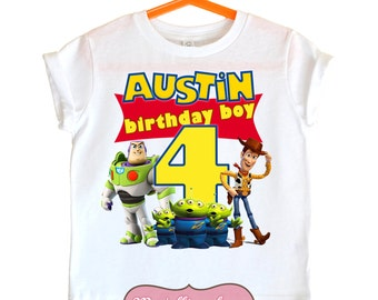 Toy Story Birthday Shirt - with name and age