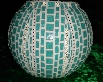 Mosaic tea light / vase