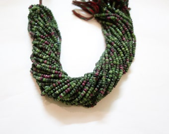 Ruby zoisite Faceted Rondelle Beads, Ruby zoisite beads
