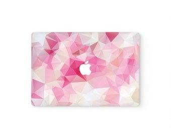 MacBook Cover MacBook Decal MacBook Skin Top Front Lid MacBook Sticker Air/Pro/Retina Touch Bar 11 12 13 15 17 inch Vinyl Pink Triangles