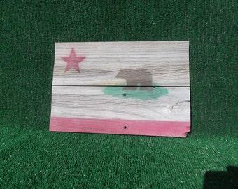 Reclaimed Wood CA Flag - Summer Special
