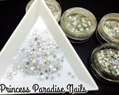 1pot Solvent Resistant Glitter Holographic Glitter silver star 4mm Large Glitter Frankening Nail Polish Supply