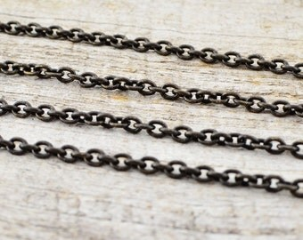 Antiqued Brass Chain, Distressed Chain, Brass Chain, Medium Chain, Weathered Chain