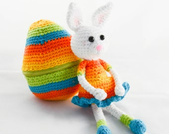 Bunny in the Easter egg crochet Amigurumi PDF