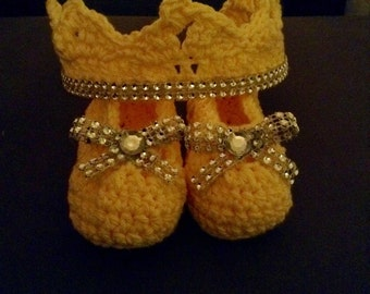 Princess crown with matching slippers!!