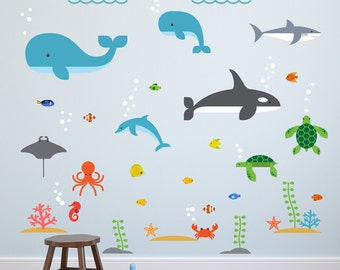Underwater Wall Decal, Underwater Decal, Underwater Wall Decals, Underwater Decals