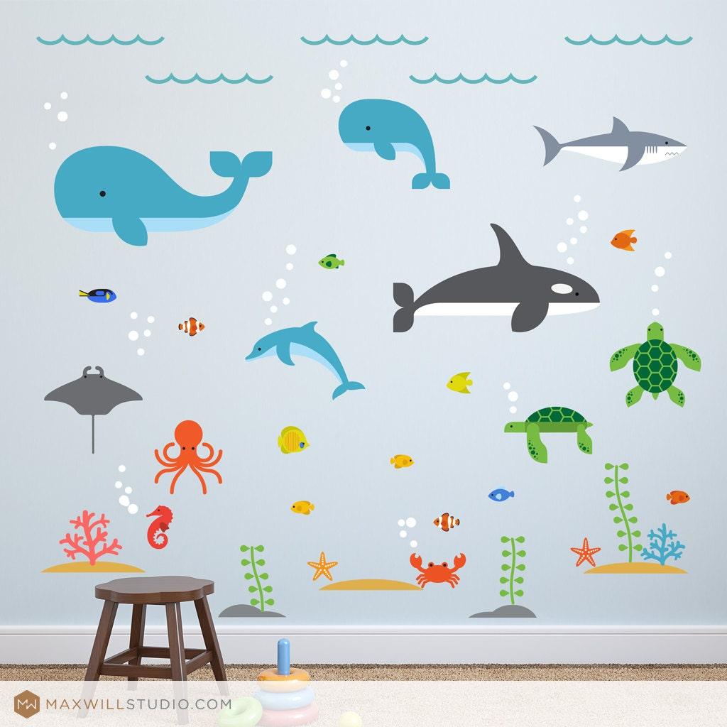 sea life decals ocean wall sticker sealife decal sea