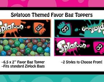 Splatoon Themed Bag Topper