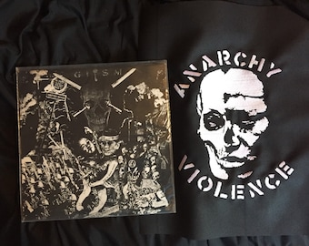 GISM anarchy violence embroidered backpatch