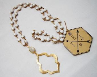Morocco Teardrop Necklace