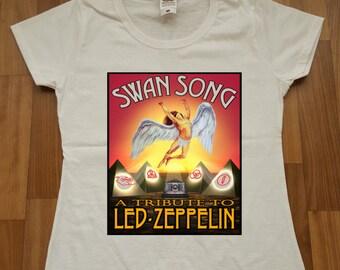 Led Zeppelin  Women T-shirt Rock  Printed Women Tshirt Led Zeppelin T-shirt  Size XS-2XL