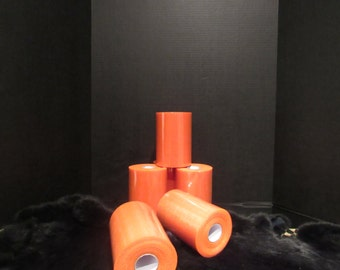 "close out ORANGE TULLE ROLL 6"" X 100 Yards"