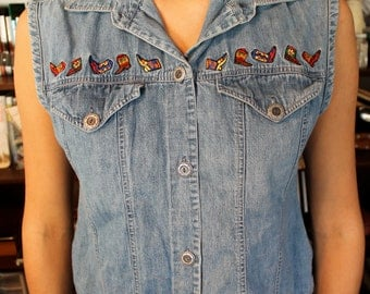 Dancing Embroidered Cowboy Boot Top
