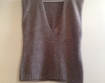 Neutral Grey- Rosanna- Sweater Vest