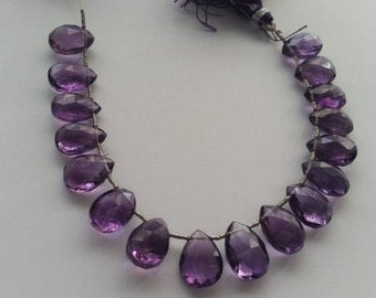 Natural Amethyst faceted Pear shape of 10x13 MM