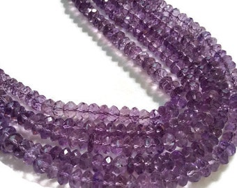 """7-8MM Amethyst faceted Beads , Length 15"""""""