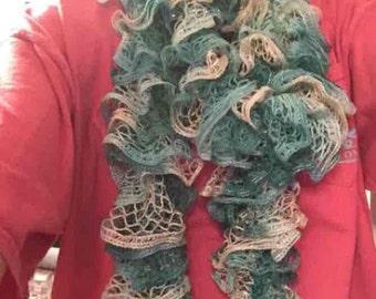 Handmade teal scarf