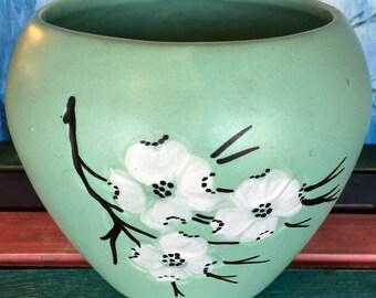 1960s McCoy Dogwood Pattern Vase