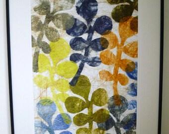 Olive - Flora Fauna Print (50cm x 70cm)
