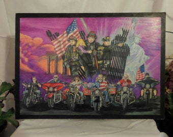 911 Tribute Bad Biker Art