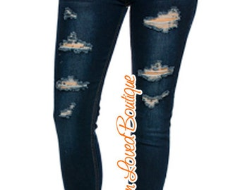 ON SALE!! Distressed Skinny Jeans Womens