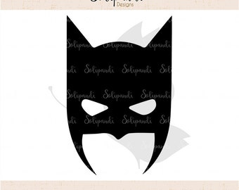 Batman Mask - SVG and DXF Cut Files - for Cricut, Silhouette, Die Cut Machines // scrapbooking // paper crafts // kids // solipandi // #104