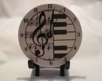 Ceramic Cloquette (clock) - Classical Music