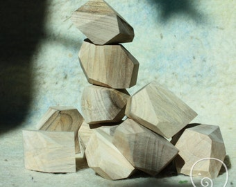 "wooden blocks ""Gray walnut""/tumi ishi"