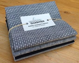 Fat Quarter Bundle : Robert Kaufman's Indigo Fabrics