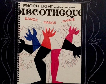 "Recycled Album Notebook ""Discotheque"""