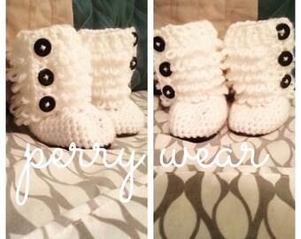 Crochet Baby Ruffle Booties