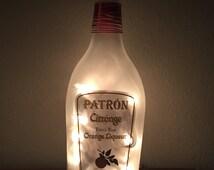 Patron Citronge Orange Liquer Lighted Bottle