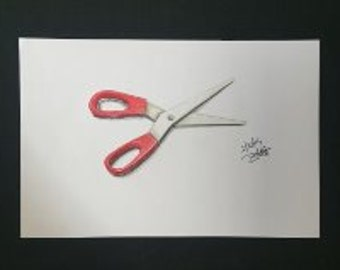 Drawing - Red Scissors