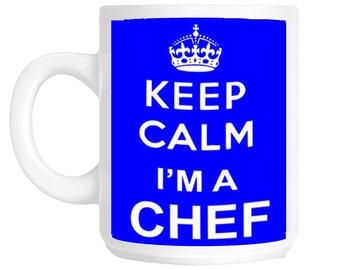 Keep Calm I'm A Chef Cook Gift Mug shan203