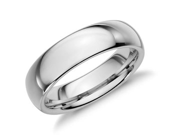 Sterling Silver Plain Wedding Band Ring-Mens or Womens