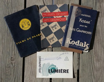 Lot 4 small catalogues Kodak Agfa Gevaert and light for the arts graphics vintage